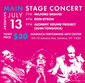 Milford Graves, Don Byron and Alchemy Sound Project - Jamaica Downtown Festival @ Jamaica Performing Arts Center front lawn | New York | United States