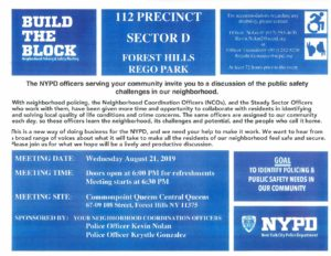 112th Precinct Build the Block Meeting @ Commonpoint Queens Central Queens