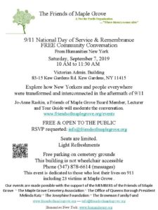 Free Community Conversation on 911 @ Friends of Maple Grove | New York | United States