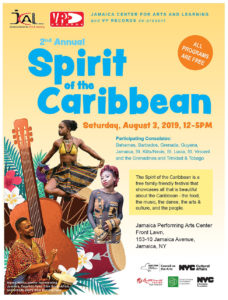 2ND ANNUAL SPIRIT OF THE CARIBBEAN CELEBRATION @ Jamaica Performing Arts Center
