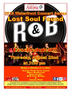 2019 Waterfront Concert Series: Lost Soul Found @ Astoria Park Great Lawn
