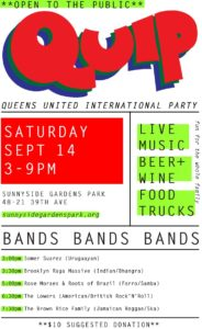 QUIP - Queens United International Party @ Sunnyside Gardens Park | New York | United States