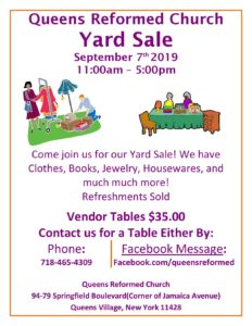 Yard Sale! at Queens Reformed Church @ Queens Reformed Church | New York | United States
