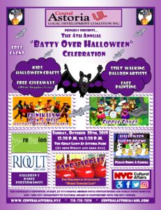 "4th Annual ""Batty Over Halloween"" Celebration! @ Astoria Park Great Lawn 