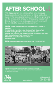 Free After School Bike Programming @ Forest Park | New York | United States