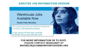 Aerotek Job Information Session @ Commonpoint Queens Central Queens