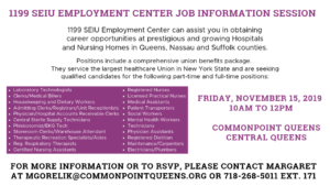 1199 SEIU Employment Center Job Information Session @ Commonpoint Queens Central Queens   New York   United States