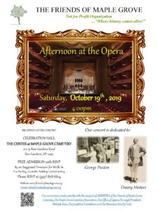 Afternoon at the Opera in Kew Gardens @ The Center at Maple Grove Cemetery | New York | United States