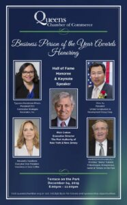 Queens Chamber of Commerce Hosts Business Person of the Year Awards Dinner @ Terrace on the Park | New York | United States