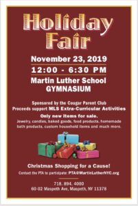 Holiday Fair @ Martin Luther School   New York   United States
