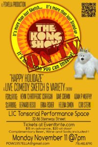 """The Kong Show on TV!""  live taping of a comedy webseries filmed in Queens @ L.I.C Tonsorial 