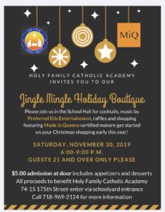 Jingle Mingle holiday boutique @ Holy family Catholic Academy   New York   United States