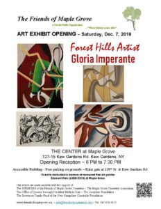 Art Opening Reception for Gloria Imperante in Kew Gardens @ The Center at Maple Grove | New York | United States