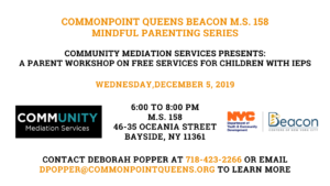 Parent Workshop on Free Services for Children with IEPs @ M.S. 158 | New York | United States