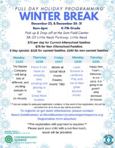 Winter Break Full Day Holiday Programming at Commonpoint Queens @ Commonpoint Queens Sam Field Center | New York | United States