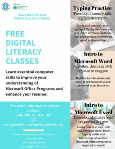 Free Digital Literacy Classes: Intro to Microsoft Excel @ Commonpoint Queens Central Queens | New York | United States