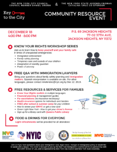 Key to the City: Community Resource Event @ PS 69 Jackson Heights | New York | United States