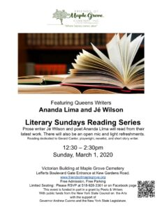 Literary Sunday at Maple Grove in Kew Gardens @ Victorian Admin Building at Maple Grove | New York | United States