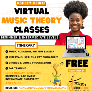 FREE Virtual Music Theory Lessons @ Keiko Studios | New York | United States