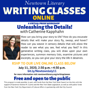 Unleashing the Details! A Free Virtual Prose Workshop @ Online