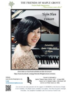 Classical Piano Concert with Yejin Han @ Friends of Maple Grove Online Event