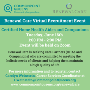 Renewal Care Virtual Recruitment Event @ Online